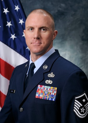 Master Sgt. Zachary Parish, 50th Security Forces Squadron first sergeant