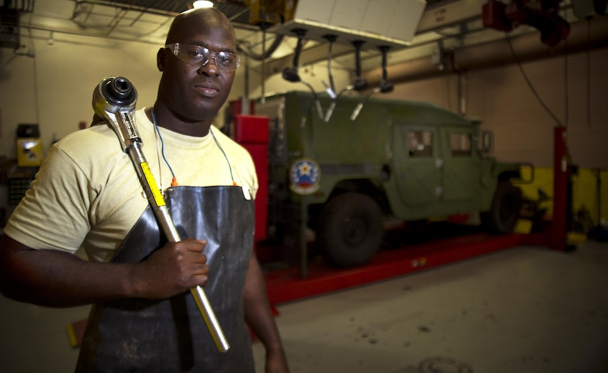 Airman 1st Class PeeJay Jack, a vehicle maintainer with the 290th Joint Communications Support Squadron, pauses for a photo Jan. 11, 2016, at MacDill Air Force Base, Fla. Jack witnessed a one-car accident on Interstate-4 and subsequently pulled the driver from their burning vehicle, prying open the car door and carrying the man to safety. (U.S. Air Force photo by Staff Sgt. Ned T. Johnston)