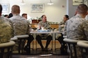 Gen. David L. Goldfein, Air Force Chief of Staff, speaks with Airmen during a breakfast at Breakers Dining Facility, Jan. 30, 2017, Vandenberg Air Force Base, Calif. (U.S. Air Force photo by Senior Airman Robert J. Volio/Released)