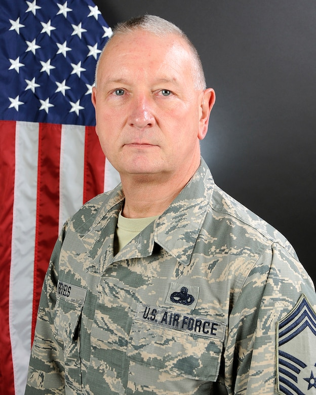 U.S. Air Force Chief Master Sgt. James Revels, the 169th Maintenance Group equipment supervisor at McEntire Joint National Guard Base, South Carolina Air National Guard, poses for his portrait, December 12, 2016. (U.S. Air National Guard photo by Airman 1st Class Megan R. Floyd)