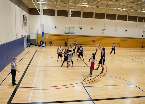 The Maintenance Group beat the Civil Engineer Squadron 51-42 in the Intramural Basketball Championship game, Jan. 30, at Mountain Home Air Force Base, Idaho. The game showcased some of the top ballers on Mountain Home AFB.
