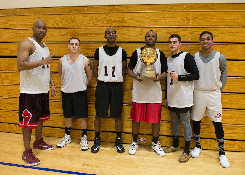 The Maintenance Group beat the Civil Engineer Squadron 51-42 to win the Intramural Basketball Championship, Jan. 30, at Mountain Home Air Force Base, Idaho. MXG outscored CES 30-19 in the second half to secure the championship. Team members consist of: David Carter,  Chance Wright Brandon Taylor, Andrew Whitmore, Oscar Colon and Brandon Jordan.