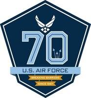 Air Force 70th anniversary logo. Air Force graphic