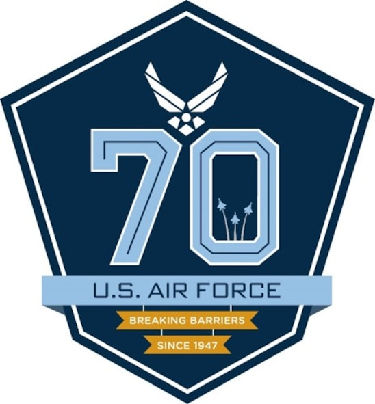 Air Force 70th anniversary logo. Air Force graphic