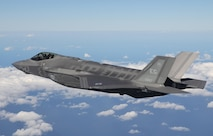 An F-35A Lightning II assigned to the 33rd Fighter Wing flies over the Gulf of Mexico January 31, 2017. The 33 FW loaded and shot the first air-to-air missiles from an F-35A during a weapons system evaluation that took place at Tyndall Air Force Base later the same day. Carrying air-to-air missiles makes the F-35 a more versatile option for combatant commanders by securing the aircrafts survivability, in turn increasing likeliness of mission success. (Courtesy photo)