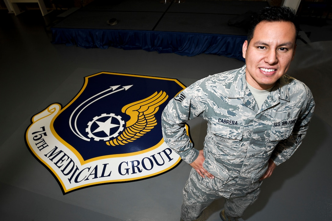 Staff Sgt. Ismael Cabrera, 75th Medical Support Squadron, NCOIC, Command Support Staff. Cabrera will depart Hill AFB in August to attend Commissioned Officer Training at Maxwell AFB, Alabama. (U.S. Air Force photo by Paul Holcomb)