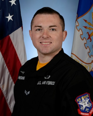 Biography photo of Senior Airman Adam Armstrong, Viper Demo Team dedicated crew chief.