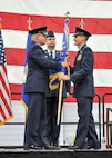 Col. Daniel Sarachene accepts the 910th Airlift Wing unit flag from Maj. Gen. John P. Stokes, commander of 22nd Air Force, Dobbins Air Reserve Base, Georgia, during an assumption of command ceremony here, Feb. 4, 2017. Sarachene is the first Mahoning County resident to assume command of the 910th since at least 1981. He spent the majority of his career at YARS before becoming the vice commander of Niagara Falls Air Reserve Station, New York in 2014. (U.S. Air Force photo/Senior Airman Joshua Kincaid)