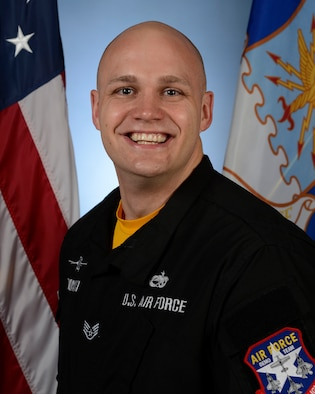 Biography photo for Staff Sgt. Kam Glowacki, Viper Demo Team noncommissioned officer in charge