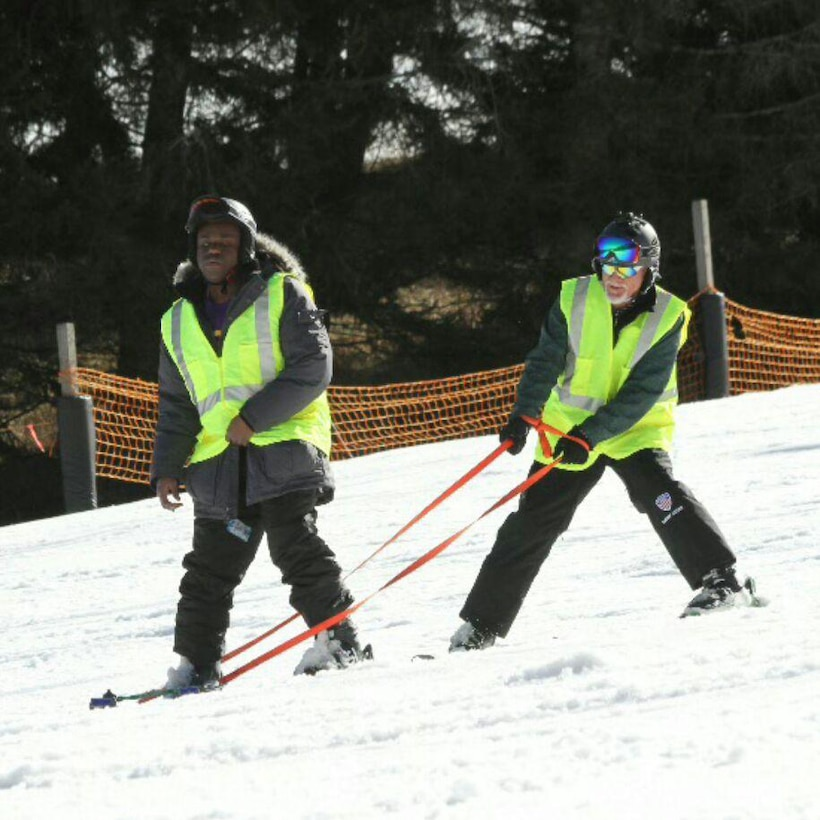 NASHVILLE, Tenn. (Jan. 26, 2017) – Individuals with special needs from the south eastern region of the United States spend time on the mountainous ski slopes every winter thanks to the help of many volunteers.   A U.S. Army Corps of Engineers Nashville District team member often spends a portion of the winter at an eastern Tennessee ski resort supporting the free ski clinic for dozens of adaptive skiers.
