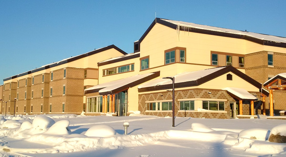 Building 2205 is state-of-the-art, three-stories and will accommodate 168 enlisted personnel. The facility was planned to support Red-Flag Alaska – a series of field training exercises in a simulated combat environment for a large amount of permanent and temporary personnel. However, an anticipated influx of about 1,200 airmen following the arrival of 54 F-35A Joint Strike Fighter jets in 2020 made the additional living quarters a critical need.