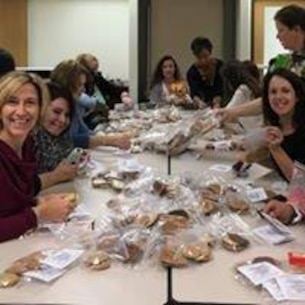 Quantico's Women of the Chapel gather for their semi annual cookie drive. Nearly 2000 cookies were distrubuted to service members living in the barracks.