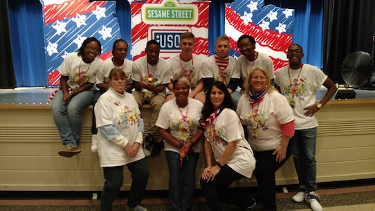 Our volunteers supporting the Sesame Street Live event at Little Hall.