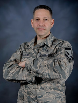 Senior Master Sgt. David Kolcun, a TRICARE Operations and Patient Administration chief assigned to the 6th Medical Support Squadron, poses for a photo at MacDill Air Force Base, Fla., Jan. 31, 2017. Kolcun is slated to be the first ever medic, as well as member of Team MacDill, to participate in the Air Force Legislative Fellows (AFLA) Program. The program is designed to provide opportunities to improve understanding and knowledge of the functions and operations of the legislative branch and how it impacts the military. (U.S. Air Force photo by Senior Airman Vernon L. Fowler Jr.)