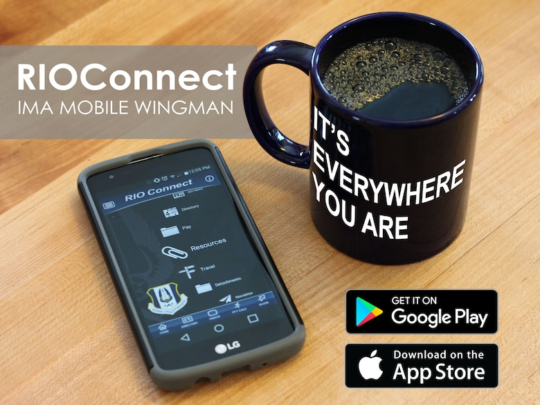 The RIO Connect – IMA Mobile Wingman app is available to both Android and Apple users and offers IMAs easy access to the tools and information they need to manage their careers, when and where they need it.