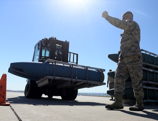 "The 28th Munitions Squadron will conduct a 100 percent munitions semi-annual inventory March 14 through March 16, in accordance with Air Force Instruction 21-201, ""Management and Maintenance of Non-Nuclear Munitions."" (U.S. Air Force photo by Airman 1st Class Rebecca Imwalle)"
