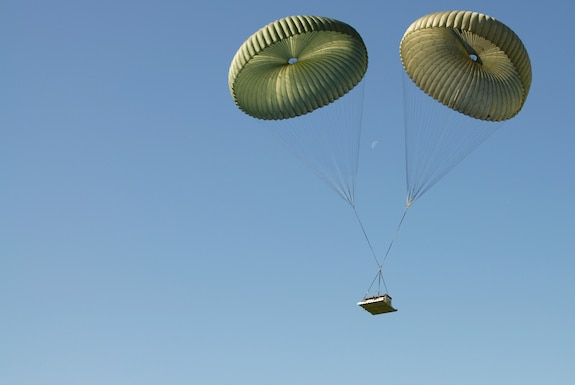 Members of the 179th Airlift Wing, Mansfield, Ohio, perform an airdrop exercise Oct.23, 2016. The Ohio Air National Guard unit is always on mission to respond with highly qualified citizen airmen to execute Federal, State and community missions. (U.S. Air National Guard photo by Airman Megan Shepherd\Released)