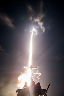 U.S. Missile Defense Agency personnel, sailors aboard the USS John Paul Jones and members of Japan's defense ministry conduct a flight test off the west coast of Hawaii, Feb. 3, 2017. The test resulted in the first intercept of a ballistic missile target using the Standard Missile-3 Block IIA. DoD photo by Leah Garton