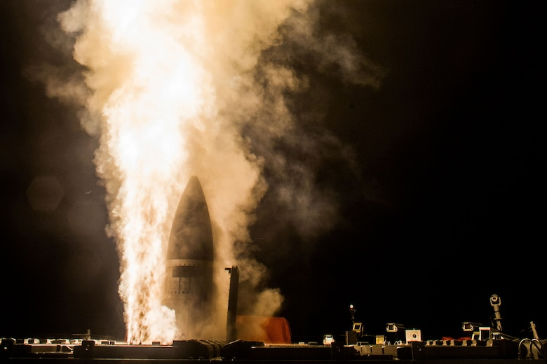 A Standard Missile-3 (SM-3) Block IIA is launched from the guided-missile destroyer USS John Paul Jones (DDG 53) during a flight test off Hawaii resulting in the first intercept of a ballistic missile target by the SM-3IIA, which is being developed cooperatively by the U.S. and Japan, Feb. 3, 2017. This test also marks the first time an SM-3IIA was launched from an Aegis ship and the first intercept engagement using the Aegis Baseline 9.C2 (BMD 5.1) weapon system.