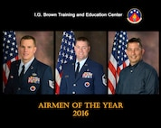 Tech. Sgt. Joseph Hunter, NCO of the year, Master Sgt. Jason Miller, senior NCO of the year, and David Barlow, civillian of the year, were recognized for their outstanding service in 2016 at the I.G. Brown Training and Education Center in Louisville, Tenn. (U.S. Air National Guard file photo illustration)