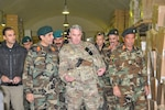 Maj. Gen. Richard G. Kaiser, commanding general of Combined Security Transition Command- Afghanistan, tours the logistics warehouses of the 215th Corps in Helmand in February, 2017 to assess logistical challenges and evaluate next steps to build capacity and sustainment progression for Operation Shafaq II Campaign. Accompanying him was Afghan Maj. Gen. Ahmadzai Sakhi, assistant director of the Ministry of Defense for technology, acquisition and logistics.
