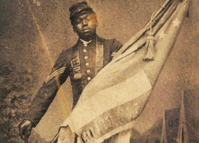 Army Sgt. William H. Carney was the first of the nation's 88 African-American Medal of Honor recipients, earning the medal during the Union Army's charge on Fort Wagner during the Civil War. Army photo
