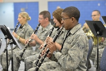 "MCGHEE TYSON AIR NATIONAL GUARD BASE, Tenn. - The Air National Guard's foremost 572nd Air Force Band, or ""Band of the South"" - its 41 musicians - perform their final practice session at the I.G. Brown Training and Education Center's Wilson Hall here May 28, before they kick off a fresh and tuneful, summer 2014 tour. The Band of the South will appear for nearly a dozen, toe-tapping concerts June 28 through July 4, including Virginia Beach, Va., Charleston Harbor, S.C., and Panama City Beach, Fla.  (U.S. Air National Guard photo by Master Sgt. Kurt Skoglund/Released)"