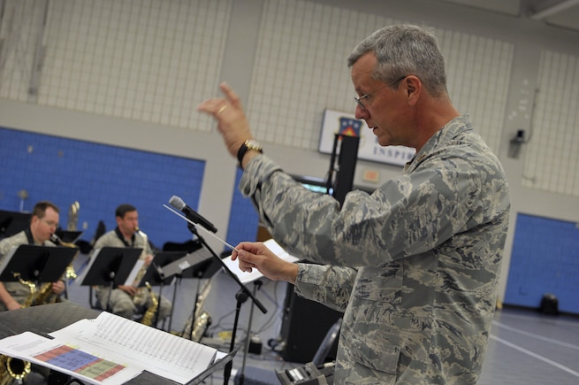 "MCGHEE TYSON AIR NATIONAL GUARD BASE, Tenn. - The Air National Guard's foremost 572nd Air Force Band, or ""Band of the South"" - its 41 musicians - perform their final practice session at the I.G. Brown Training and Education Center's Wilson Hall here May 28, before they kick off a fresh and tuneful, summer 2014 tour. The Band of the South will appear for nearly a dozen, toe-tapping concerts June 28 through July 4, including Virginia Beach, Va., Charleston Harbor, S.C., and Panama City Beach, Fla. (U.S. Air National Guard photo by Master Sgt. Mike R. Smith/Released)"