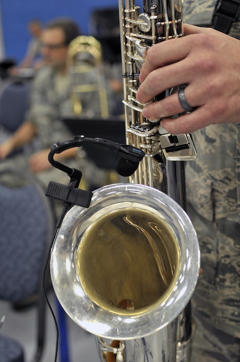 """MCGHEE TYSON AIR NATIONAL GUARD BASE, Tenn. - The Air National Guard's foremost 572nd Air Force Band, or """"Band of the South"""" - its 41 musicians - perform their final practice session at the I.G. Brown Training and Education Center's Wilson Hall here May 28, before they kick off a fresh and tuneful, summer 2014 tour. The Band of the South will appear for nearly a dozen, toe-tapping concerts June 28 through July 4, including Virginia Beach, Va., Charleston Harbor, S.C., and Panama City Beach, Fla. (U.S. Air National Guard photo by Master Sgt. Mike R. Smith/Released)"""