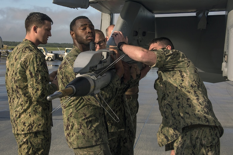 U.S. Navy Sailors with Electronic Attack Squadron (VAQ) 135 performed maintenance on E/A-18G Growlers at Andersen Air Force Base, Guam, to support exercise Cope North, which is scheduled for Feb. 8 – March 8, 2017. The maintenance performed by the Sailors allows the pilots to continue operating their aircraft and participating in the exercise.