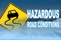According to DMV.org, driving in hazardous road conditions is a matter of preparation, practice and maintaining composure when pitted against unfamiliar situations such as slipping and sliding on roads. The most common mistake that motorists make is not leaving enough space between themselves and the motorists in front of them. (U.S. Air Force graphic/Airman 1st Class Daniel Brosam)