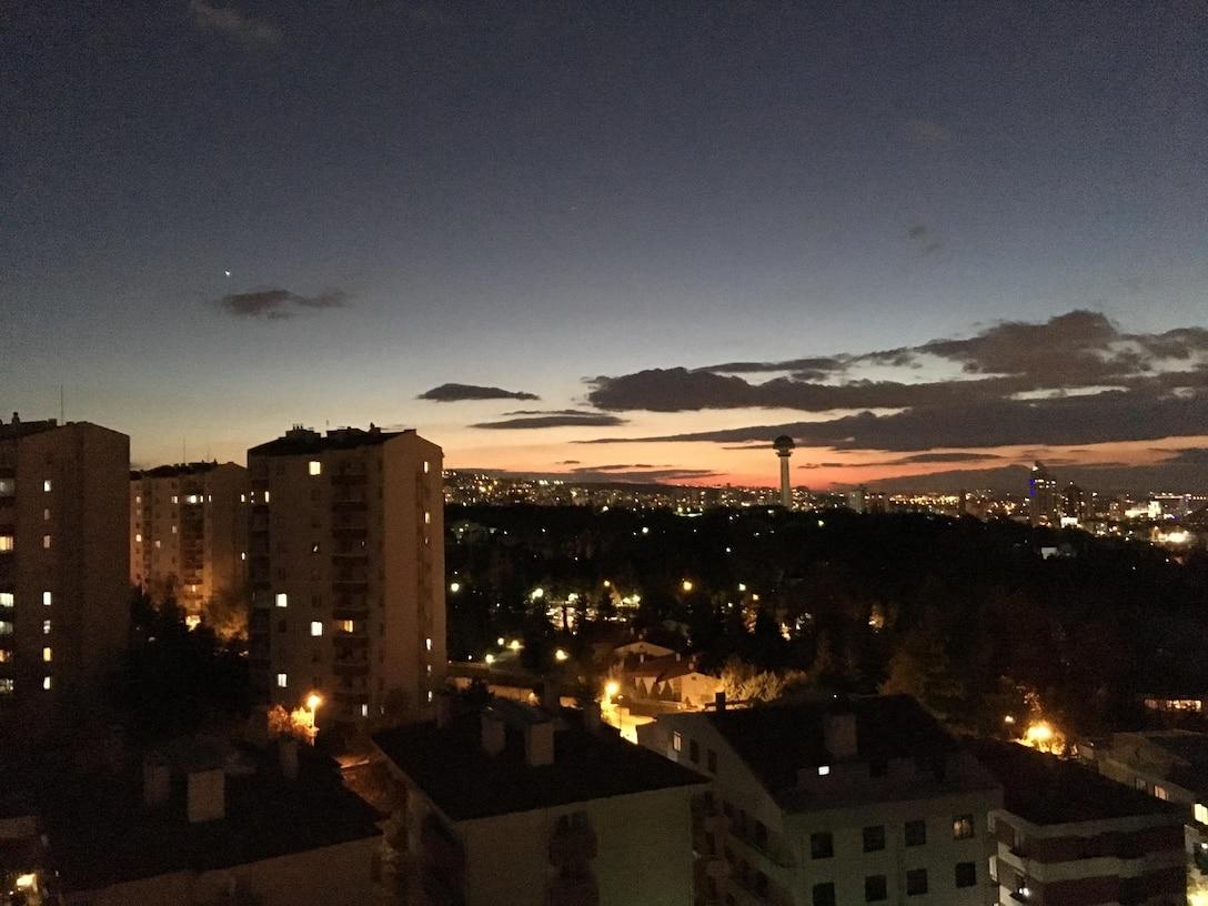 Ankara, Turkey, at sunset.