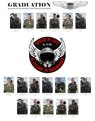 Specialized Undergraduate Pilot Training Class 17-05 is set to graduate. (U.S. Air Force graphic/Airman 1st Class Benjamin N. Valmoja)