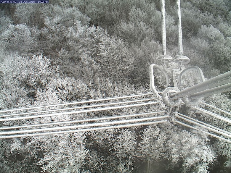 Web cameras provide real-time visuals of icing on power lines for AEP engineers and for researchers monitoring the site at CRREL in Hanover, New Hampshire.