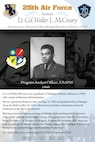 The 25th Air Force and its previous iterations have a proud history. This is reflected in the life of Lt. Col. Walter L. McCreary, a Tuskegee graduate and Program Analyst Officer assigned to USAFSS in 1949.