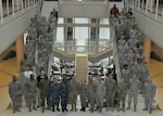 Air Force Individual Mobilization Augmentees with the DLA Joint Reserve Force staff at the IMA All-Call event Feb. 3, 2017.