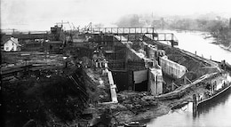 The Hiram M. Chittenden Locks in Ballard being built in the early 1900s. The locks are part of the Lake Washington Ship Canal which stretches between Lake Washington and Shilshole Bay and officially opened July 4, 1917. Songwriting finalist performances and historical societies and other group's displays will kick off the U.S. Army Corps of Engineers' Hiram M. Chittenden Locks Centennial commemoration 10 a.m. to 3 p.m., February 18 through 20, 2017.