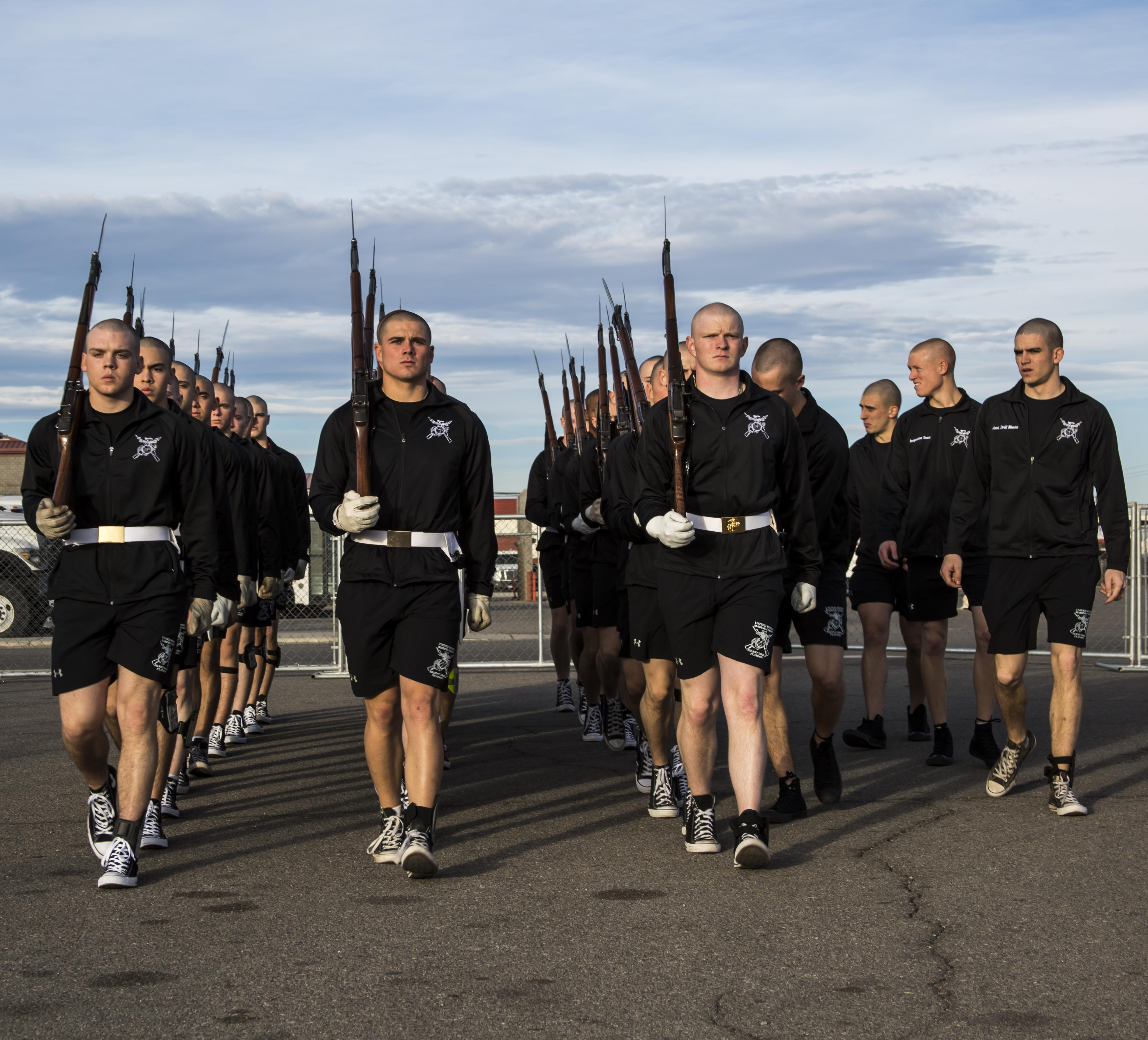 Marine corps silent drill team schedule