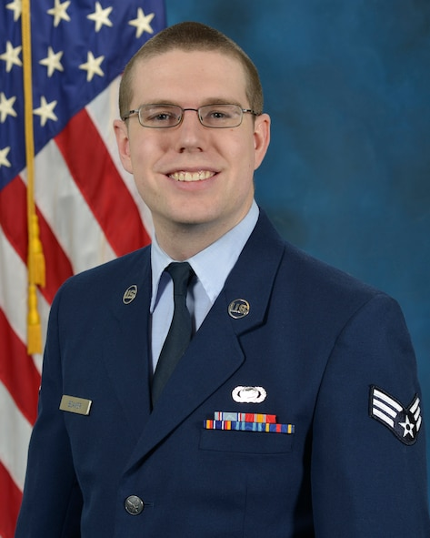 Senior Airman Robert Beaver, assigned to the Nuclear Command, Control and Communications (NC3) Integration Directorate, has been named The Air Force Nuclear Weapons Center's Airman of the Year. The announcement came Feb. 2 during the center's annual award ceremony at the Mountain View Club at Kirtland Air Force Base, New Mexico, where AFNWC is headquartered. (U.S. Air Force photo by Linda LaBonte Britt)