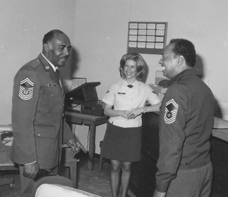 Chief Master Sgt. Thomas N. Barnes visits Turkey in 1976 with Chief Master Sgt. J.M. Huckless. (Photo courtesy of the Tinker History Office)