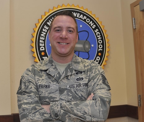 Tech. Sgt. Jeremy Parks, Defense Nuclear Weapons School, was selected as Kirtland Warrior for his contributions to the nuclear mission.