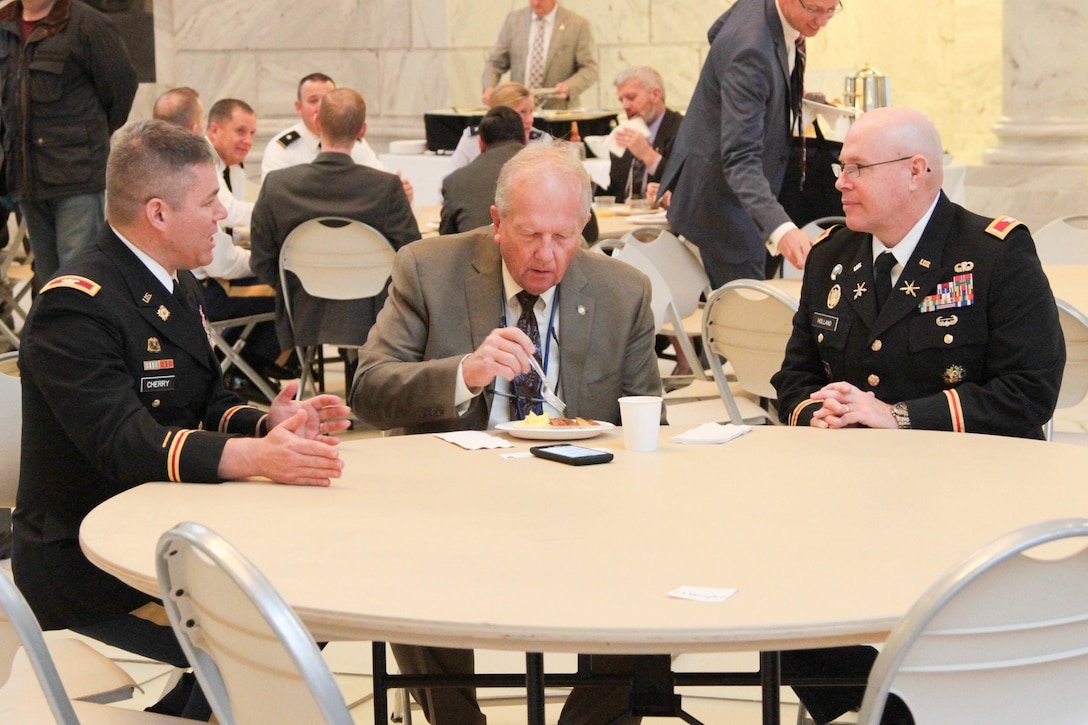 "The Utah Defense Alliance hosted another ""Meet the Military"" breakfast event at the Utah State Capitol Rotunda on January 26.  