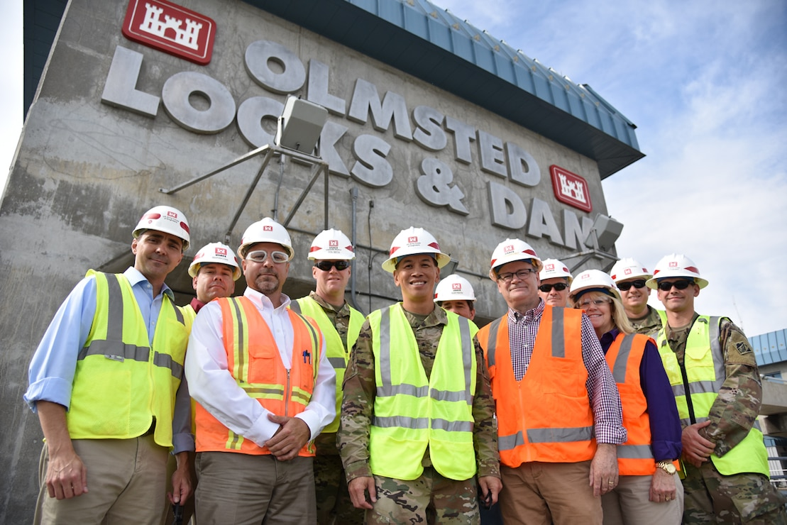 Brig. Gen. Toy visits Olmsted Locks and Dam