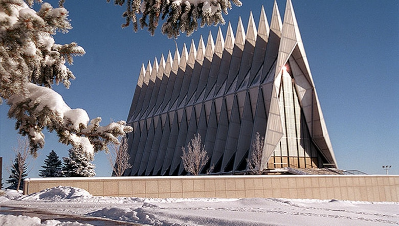 Volunteers are needed to serve as docents at the Cadet Wing Chapel at the U.S. Air Force Academy. The chapel staff hopes to double it's amount of volunteer staff by July 2017. (U.S. Air Force photo)