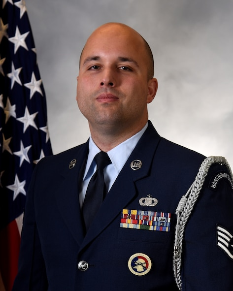 Staff Sgt. Shawn Modjtabai of the 225th Air Defense Squadron wins the Washington Air National Guard Honor Guard Program Manager of the Year award.