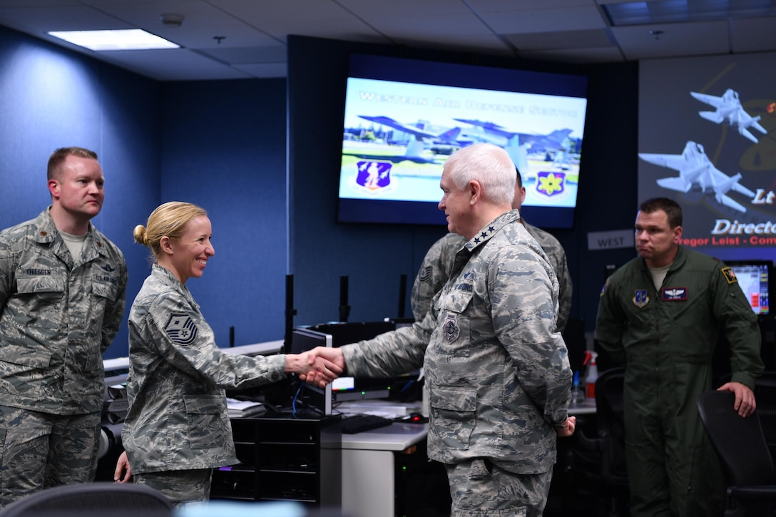 Lt. Gen. L. Scott Rice, Director of the Air National Guard, recognizes 