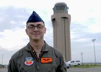Airman 1st Class Patrick, 12th reconnaissance Squadron sensor operator, poses for a photo Feb. 15, 2017, at Beale Air Force Base, Calif. (U.S. Air Force photo/Airman 1st Class Aubrey Barringer)