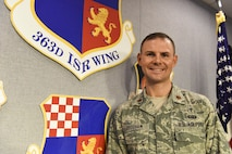 When the search for a new chaplain began at the 363rd Intelligence, Surveillance and Reconnaissance Wing, who could have imagined an ISR analyst would be selected to fill those empty shoes. Chaplain (Maj.) W. James 'Jim' Bridgham said he can see that his ISR career prepared him for this assignment. (U.S. Air Force photo by Technical Sgt. Darnell Cannady)