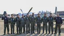 U.S. Air Force Col. Larry Card, center, 51st Operations Group commander, poses with pilots from the 25th Fighter Squadron and the Republic of Korea air force 237th Tactical Control Squadron during Buddy Wing 17-3 at Osan Air Base, ROK, Feb. 13, 2017. Buddy Wing exercises are held throughout the year at different air bases across the ROK, bringing together different elements of U.S. and ROK air force assets for bi-lateral training and the exchange of skills. (U.S. Air Force photo by Staff Sgt. Victor J. Caputo)