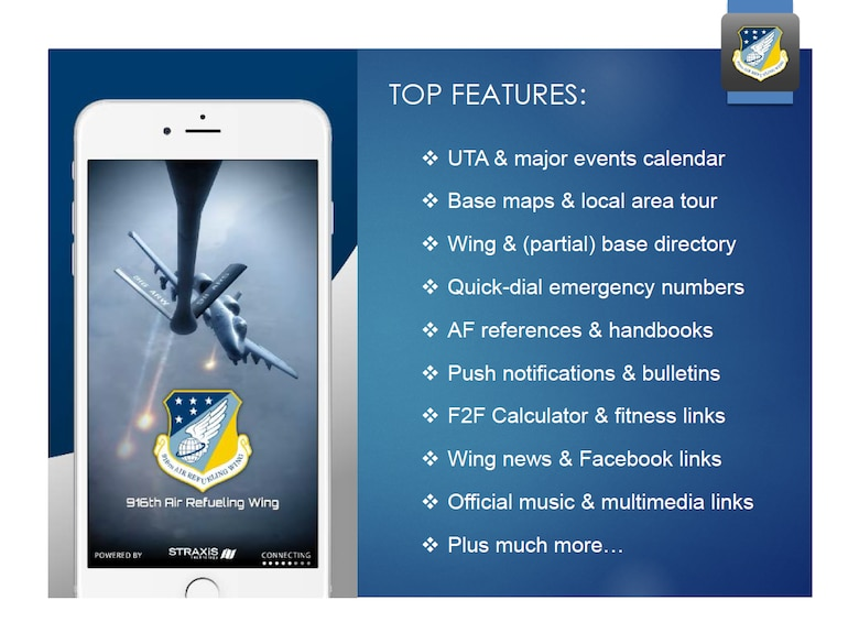 916 ARW Mobile Application Screenshot 2 (U.S. Air Force photo illustration by Wendy Lopedote)